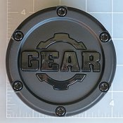 CAP-6LP-M15 / Gear Alloy Satin Black Pop-In Center Cap