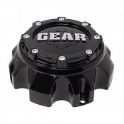 CAP-726B-8 / Gear Alloy Gloss Black 8-Lug Bolt-On Center Cap