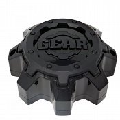 CAP-8LT-B17 / Gear Alloy Tall Gloss Black With Satin Black Overlay Bolt-On Center Cap