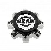 CAP-8LT-CB16 / Gear Alloy Tall Chrome with Gloss Black Logo and Bolt-On Center Cap