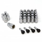 14x1.5 Closed Long Chrome 6-Lug Install Kit