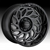 Center Line 846BM Quake Gloss Black Milled Custom Wheels Rims