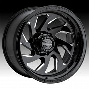 Center Line 847BM Tangent Gloss Black Milled Custom Wheels Rims