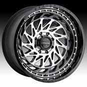 Center Line 848MB Scope Machined Gloss Black Custom Wheels Rims