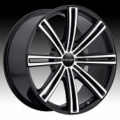 Cruiser Alloy 916MB Obsession Gloss Black Machined Custom Wheels