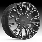 Cruiser Alloy 923MB Raucous Machined Black Custom Wheels Rims