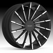 Cruiser Alloy 924MB Stiletto Machined Black Custom Wheels Rims