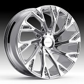 Cruiser Alloy 925C Cutter Chrome Plated Custom Wheels Rims