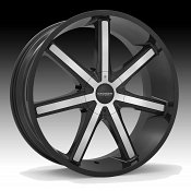 Cruiser Alloy 926MB Defiant Machined Black Custom Wheels Rims