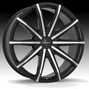 Cruiser Alloy 927MB Spectrum Machined Black Custom Wheels Rims
