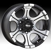 Dick Cepek DC-2 Machined Black Custom Rims Wheels