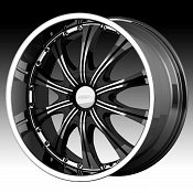 Diamo DI30 Karat Black w/ Machined Face Custom Rims Wheels