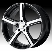 Diamo DI37 Karat Gloss Black w/ Machined Face Custom Rims Wheels