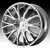 Diamo DI38 Karat Bright PVD Chrome Custom Rims Wheels