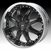 Dale Jr DJ350M 350 Octane Gloss Black Machined Lip Custom Rims W