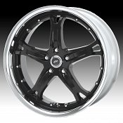 Dale Jr DJ374M 374 Killer Gloss Black Machined Lip Custom Rims W