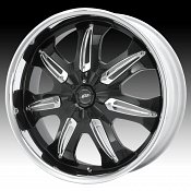 Dale Jr DJ381M 381 Hustler Gloss Black Machined Lip Custom Rims