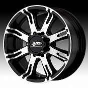 Dale Jr DJ708 708 Ribelle Matte Black Machined Face Custom Rims