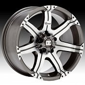 Dick Cepek Gun Metal 7 Machined Custom Rims Wheels