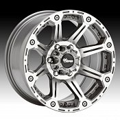 Dick Cepek Torque Machined Gunmetal Custom Rims Wheels