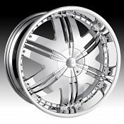 Dip D36 Phoenix Chrome Custom Wheels Rims