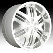 Dip D36 Phoenix HyperSilver w/ Machined Face Custom Wheels Rims