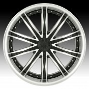Dip D67 Ice Black w/ Machined Face Custom Wheels Rims