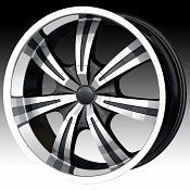 Dip D88 Gunner Black w/ Machined Face Custom Wheels Rims