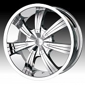 Dip D88 Gunner Chrome Custom Wheels Rims