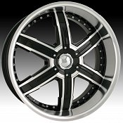 Dip D92 Heat Black w/ Machined Face Custom Wheels Rims