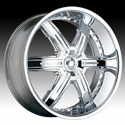 Dip D92 Heat Chrome Custom Wheels Rims