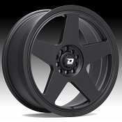 Drifz 312B Track Star Matte Black Custom Wheels Rims