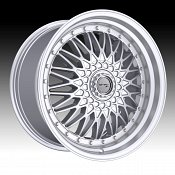 Drifz 310MS Retro Machined Silver Custom Wheels Rims