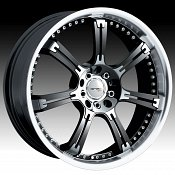 Drifz 202MB 202 Jade Machined Black Custom Rims Wheels - Discont