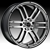 Drifz 207MB 207 FX Machined Black Custom Rims Wheels
