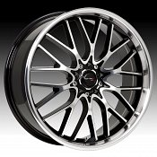 Drifz 302MB 302 Vortex Machined w/ Gloss Black Custom Rims Wheel