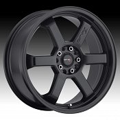 Drifz 303B Hole Shot Satin Black Custom Rims Wheels