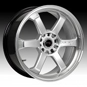 Drifz 303H 303 Hole Shot Hyper Silver w/ Machined Lip Custom Rim