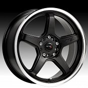 Drifz 304MB 304 Circuit Carbon Black w/ Machined Lip Custom Rims