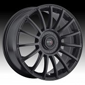 Drifz 306B Halo Satin Black Custom Rims Wheels