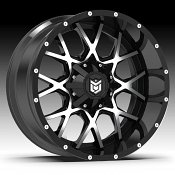 DropStars 645MB Black Machined Custom Wheels Rims
