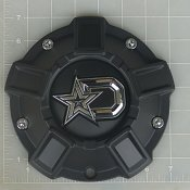 CAP-647BM-DSTAR / DropStars Satin Black Bolt-On Center Cap