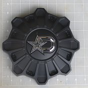 CAP-652BM-DSTAR / DropStars Satin Black Bolt-On Center Cap