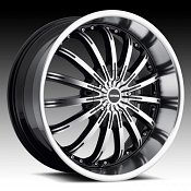 DropStars DS40 640MB Gloss Black Machined Custom Rims Wheels