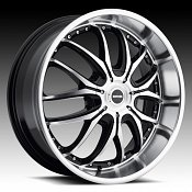 DropStars DS41 641MB Gloss Black Machined Custom Rims Wheels