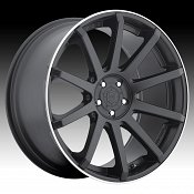 DropStars DS43 643B Satin Black Custom Rims Wheels