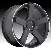 DropStars DS44 644B Satin Black Custom Rims Wheels