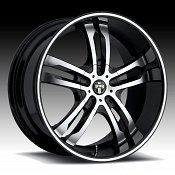 Dub Phase 5 S105 Machined Black Custom Wheels Rims