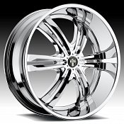 Dub Phase 6 S107 Chrome Custom Wheels Rims