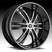 Dub Phase 6 S108 Machined Black Custom Wheels Rims